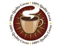 Sello 100% del cacao de la calidad Foto de archivo libre de regalías