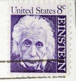 Sello Albert Einstein de la vendimia 1964 Imagen de archivo libre de regalías