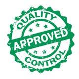Sello aprobado control de calidad Imagen de archivo libre de regalías
