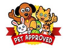 Sello aprobado del animal doméstico
