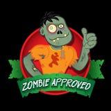 Sello aprobado del zombi Imagen de archivo libre de regalías