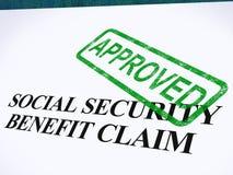 Sello aprobado demanda de la Seguridad Social stock de ilustración