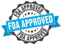 Sello aprobado por la FDA stock de ilustración