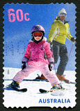 Sello australiano de esquí Imagen de archivo
