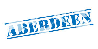 Sello azul de Aberdeen Ilustración del Vector