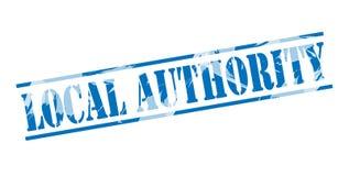 Sello azul de la autoridad local stock de ilustración