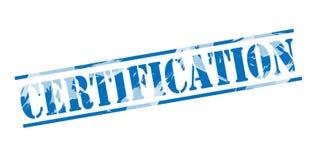 Sello azul de la certificación fotos de archivo