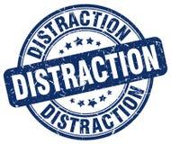 sello azul de la distracción stock de ilustración