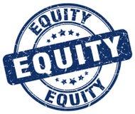 sello azul de la equidad libre illustration