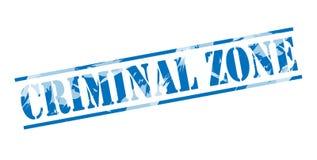Sello azul de la zona criminal stock de ilustración