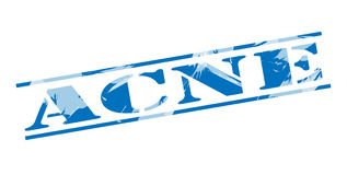 Sello azul del acné Imagen de archivo