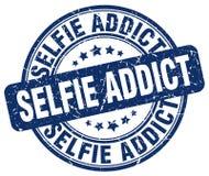 sello azul del adicto al selfie ilustración del vector