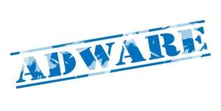 Sello azul del adware Imagen de archivo