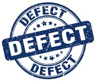 Sello azul del defecto ilustración del vector