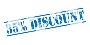 sello azul del descuento del 35 por ciento Foto de archivo libre de regalías
