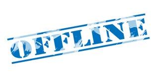 Sello azul off-line Fotografía de archivo libre de regalías