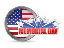 Sello blanco del Memorial Day y azul rojo Imagen de archivo libre de regalías