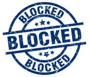 sello bloqueado stock de ilustración