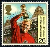 Sello BRITÁNICO de Bobby Moore England World Cup foto de archivo libre de regalías