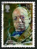 Sello BRITÁNICO de Sir Winston Churchill Fotografía de archivo