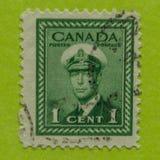 Sello canadiense del vintage Foto de archivo libre de regalías