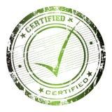 Sello certificado Imágenes de archivo libres de regalías