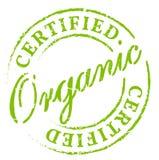 Sello certificado orgánico verde Imagenes de archivo