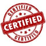 Sello certificado vector ilustración del vector