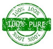 Sello con el 100% PURO Foto de archivo libre de regalías