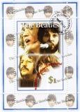 Sello con el Beatles Fotos de archivo