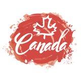 Sello con el nombre de Canadá Imagenes de archivo
