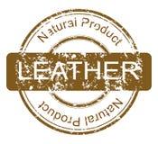 Sello con el producto de cuero natural Imagen de archivo libre de regalías