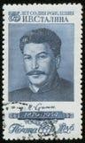Sello con el retrato de Stalin Imágenes de archivo libres de regalías