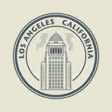 Sello con el texto Los Ángeles, California dentro libre illustration
