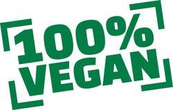 Sello con el vegano del 100 por ciento Libre Illustration