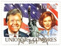 Sello con Jimmy Carter Imágenes de archivo libres de regalías