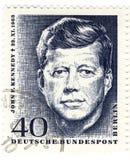 Sello con John Fitzgerald Kennedy Foto de archivo