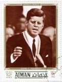 Sello con Kennedy Foto de archivo