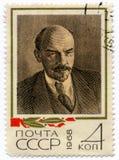 Sello con la imagen de Lenin Fotos de archivo