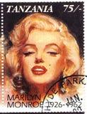 Sello con Marilyn Monroe Fotografía de archivo libre de regalías