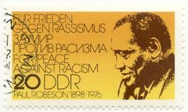 Sello con Paul Robeson Fotos de archivo libres de regalías