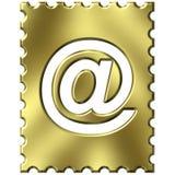 Sello con símbolo del email Foto de archivo