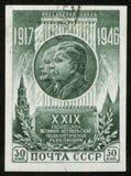 Sello con Stalin y Lenin Fotografía de archivo