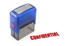 Sello confidencial Foto de archivo