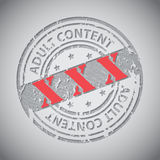 Sello contento adulto del círculo del Grunge con XXX el texto Imagen de archivo