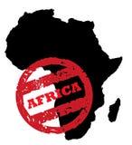 Sello continente del pasaporte de África Foto de archivo libre de regalías