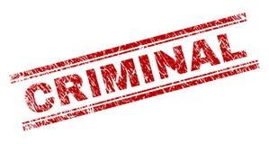 Sello CRIMINAL texturizado Grunge del sello stock de ilustración
