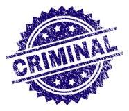 Sello CRIMINAL texturizado rasguñado del sello stock de ilustración