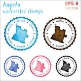 Sello de Angola stock de ilustración