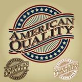 Sello de calidad americano Imágenes de archivo libres de regalías